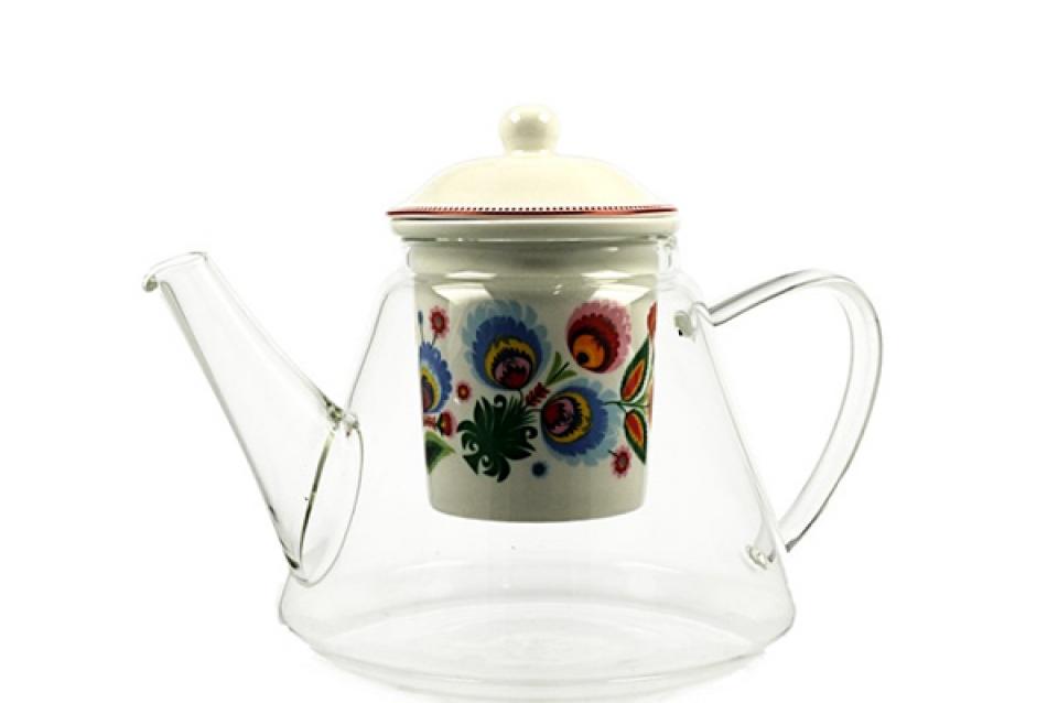 čajnik sa infuzerom flowers 1200 ml