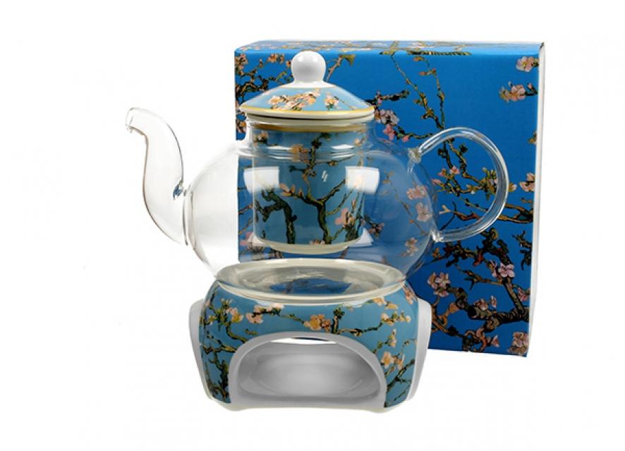 čajnik sa posudom za zagrevanje vincent van gogh almond blossom 1000 ml