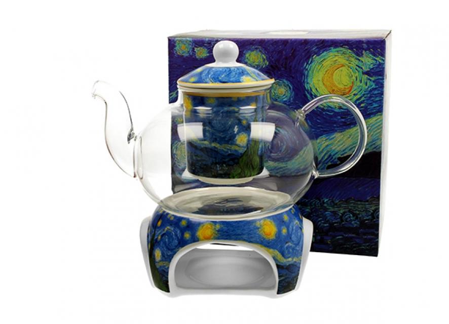 čajnik sa posudom za zagrevanje vincent van gogh starry night 1000 ml