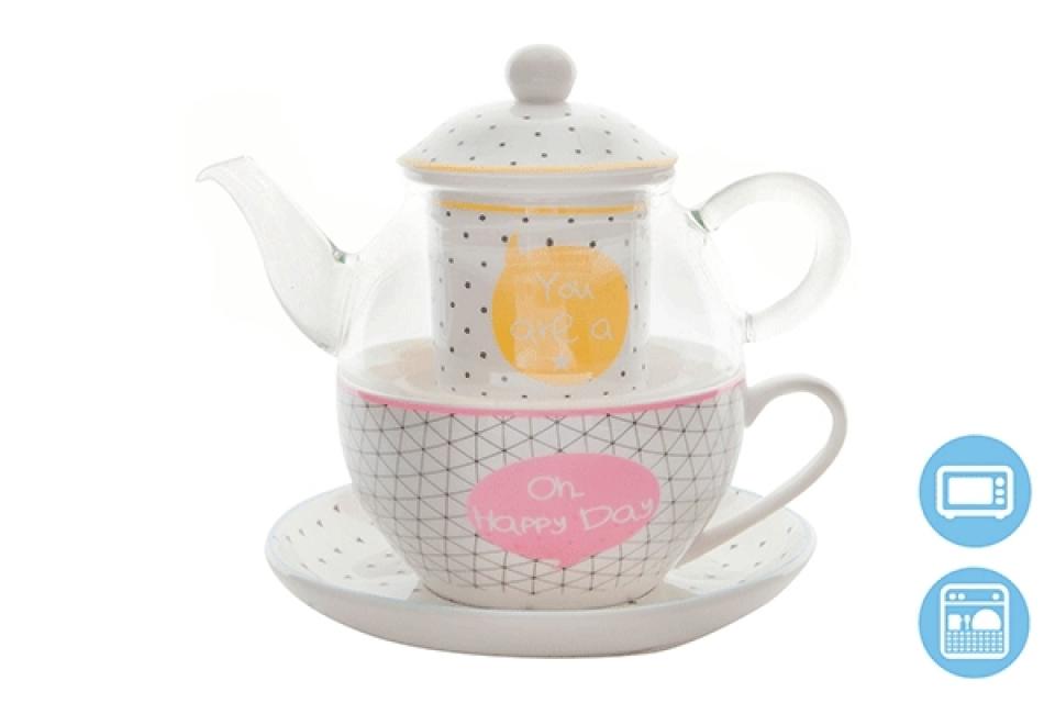 čajnik sa šoljom happy day 250 ml 2 modela