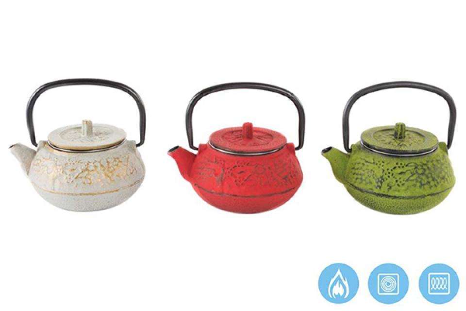čajnik u boji 12x10x10 300 ml. 3 modela