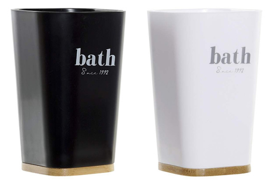 čaša za četkice crno bela 7,5x7,5x12 / ps 2 modela