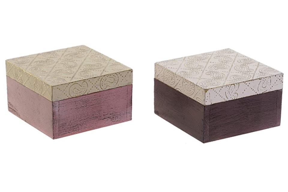 četvrtasta kutija za nakit 10x10x6,5 2 modela