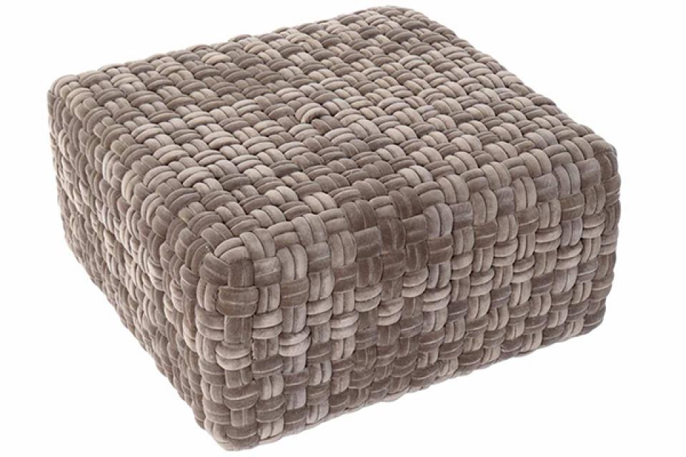 četvrtasti podni jastuk braon 60x60x32,5
