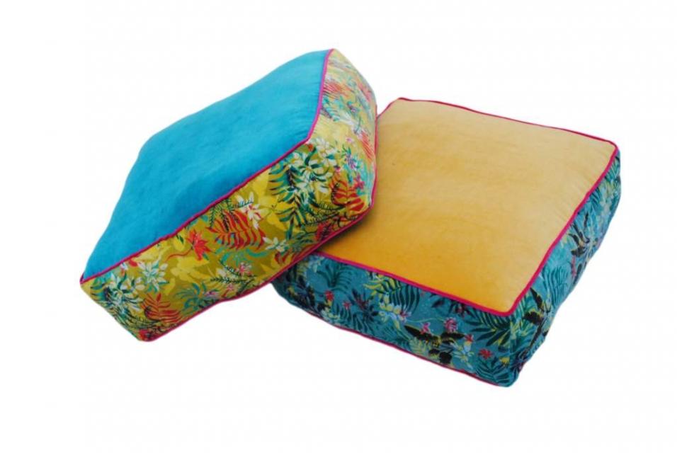 četvrtasti podni jastuk tropical 50x50x20 2 modela