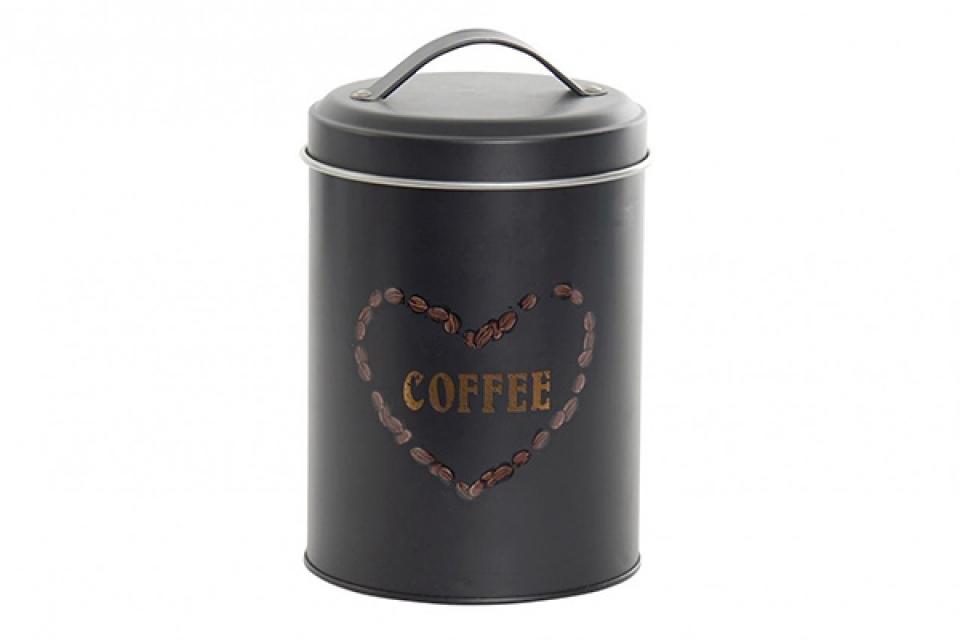 Crna posuda za kafu 10,9x10,9x17,8 1630 ml.