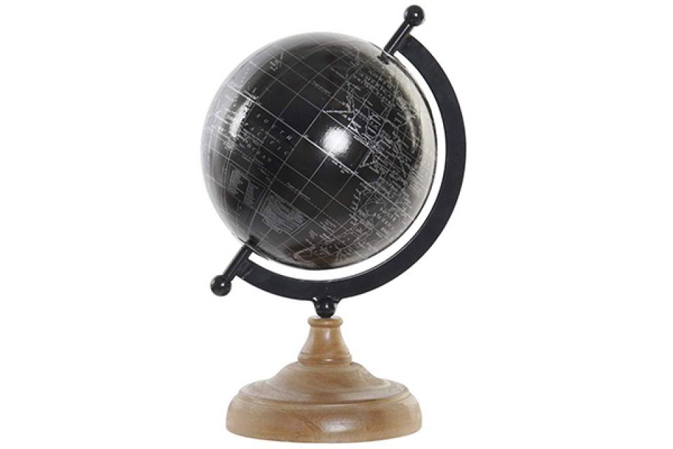 Crni globus / borovo drvo 17x14x26