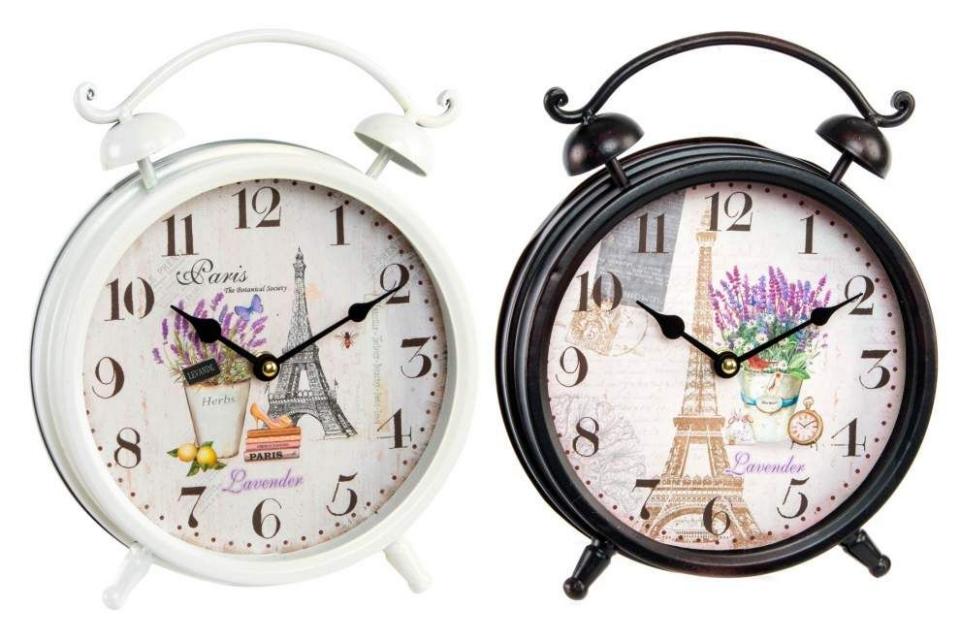 Crni i beli sat pariz 21 cm 2 modela