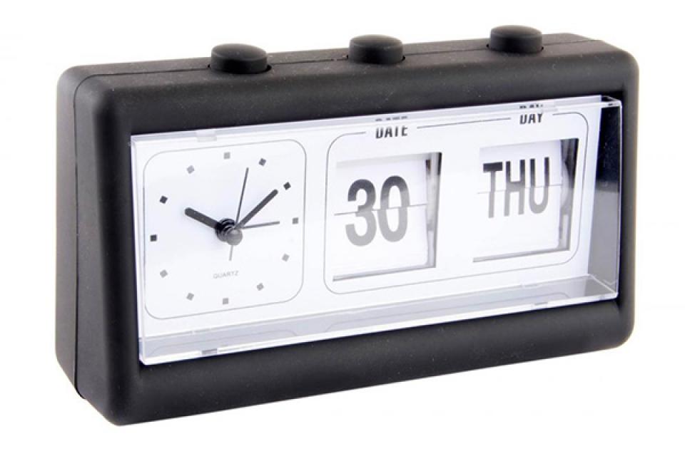 Crni sat sa kalendarom 19x6,5x12