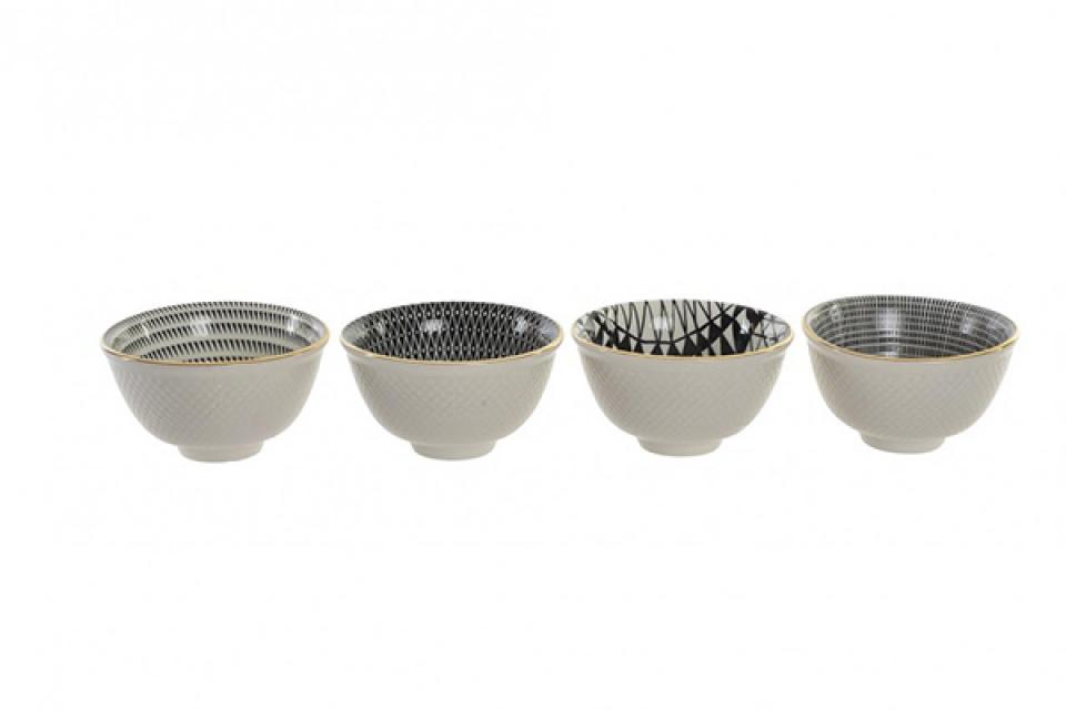 Crno bela činija  8x4,5 4 modela