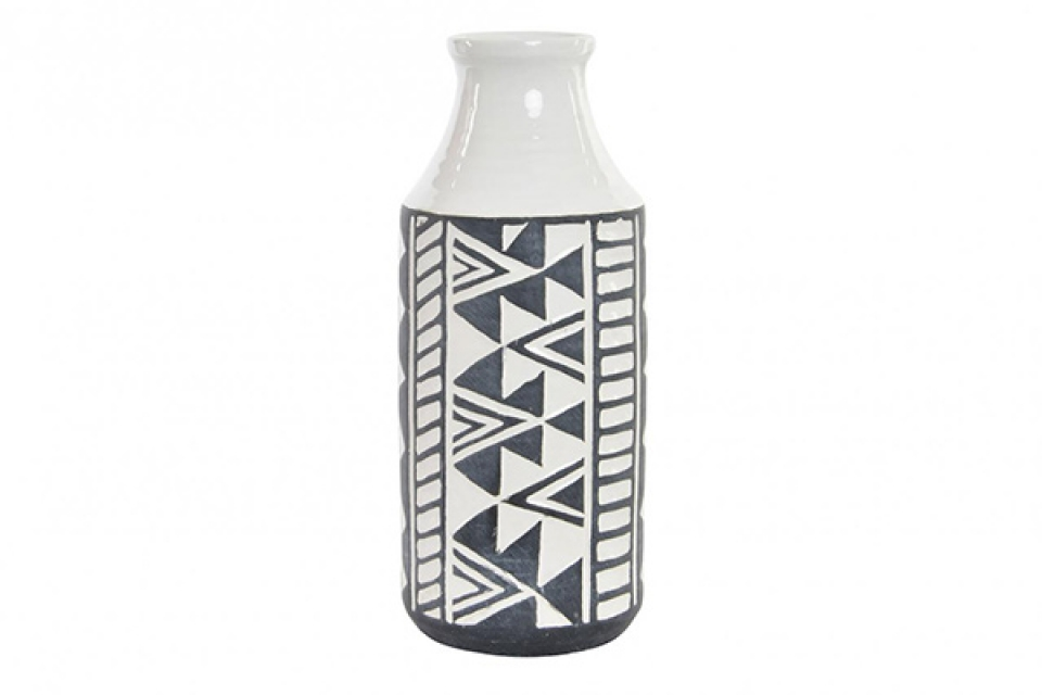 Crno bela vaza 12,5x12,5x30,5