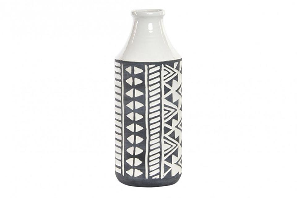 Crno bela vaza 15,5x15,5x42