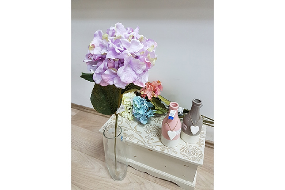 Cvet hortenzija 72 cm 5 boja