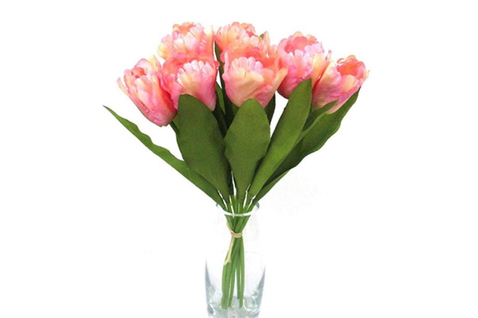 Cvet lale reckave buket 40 cm 4 boje