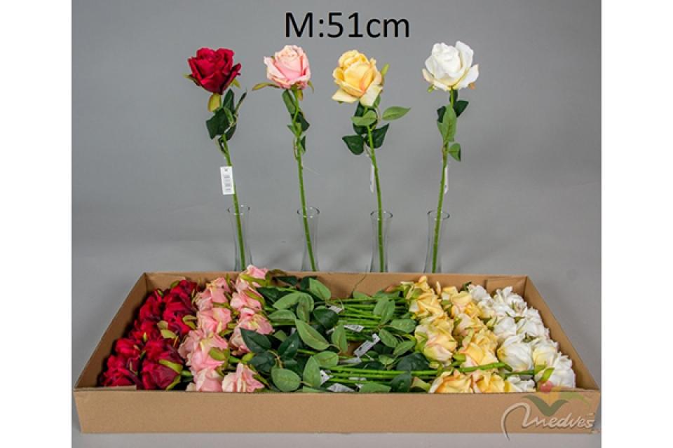Cvet ruža 51 cm 4 boje