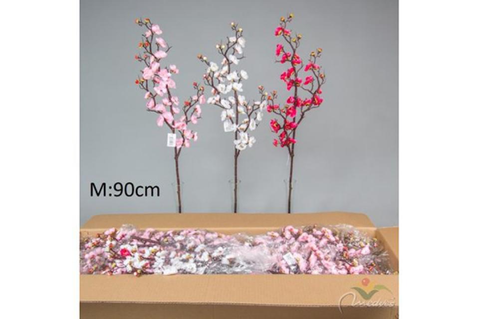 Cvet trešnjina grana 90 cm tri boje