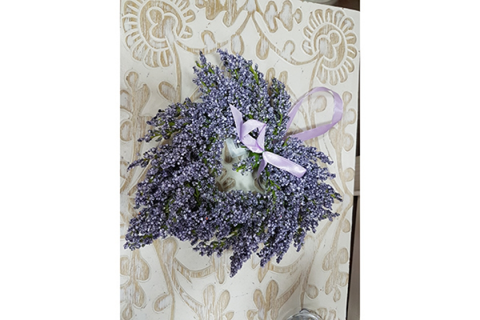 Cvetna dekoracija srce 22 cm