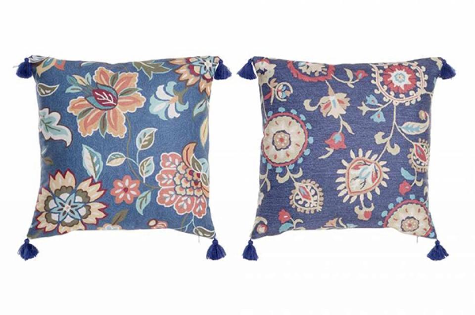 Cvetni jastuk sa kićankama 45x10x45 400 gr 2 modela