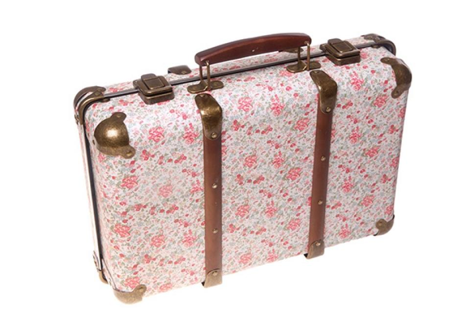 Cvetni kofer sa metalnim detaljima 25x39x11