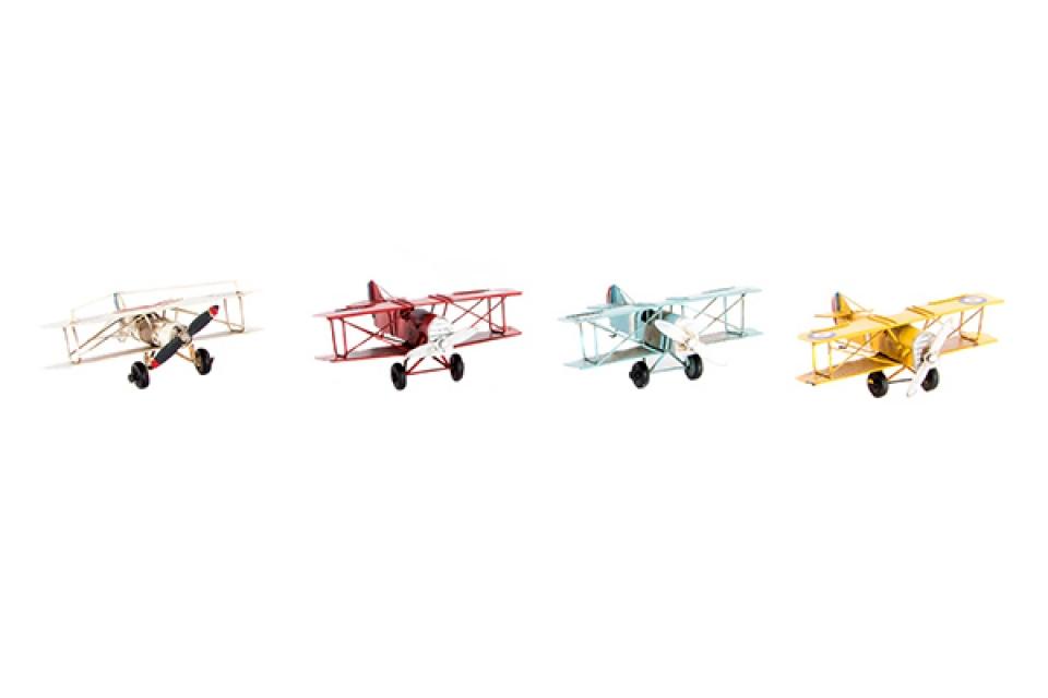 Dekoracija avion 16x13x6 4 boje