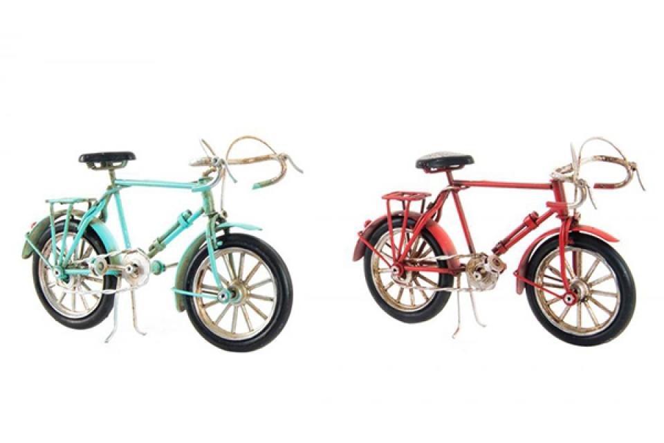 Dekoracija bicikl u boji 16x6x10 2 modela