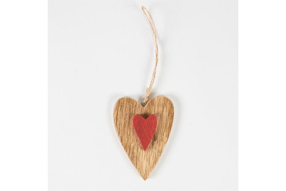 dekoracija crveno srce18x25x5