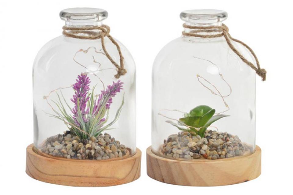 Dekoracija cveće u tegli 12,5x18 2 modela