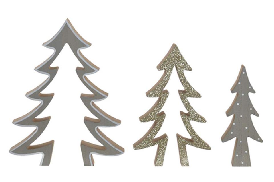 Dekoracija jelke 7,5x2,5x23 3 modela