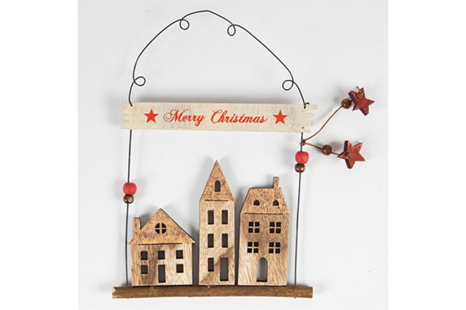 Dekoracija merry christmas 21x15,5x1