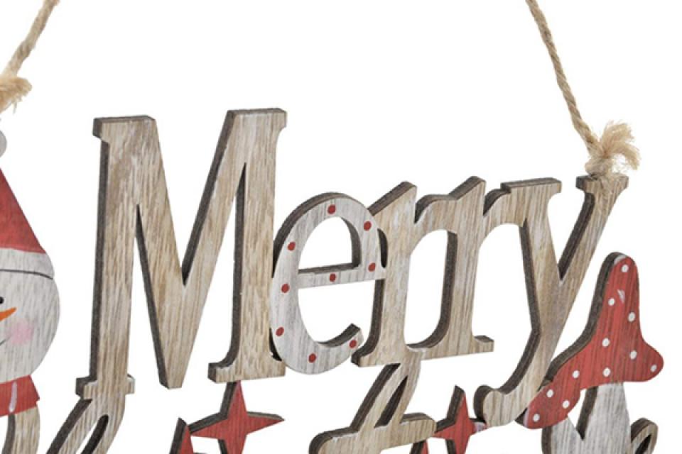 Dekoracija merry christmas 24x14 2 modela