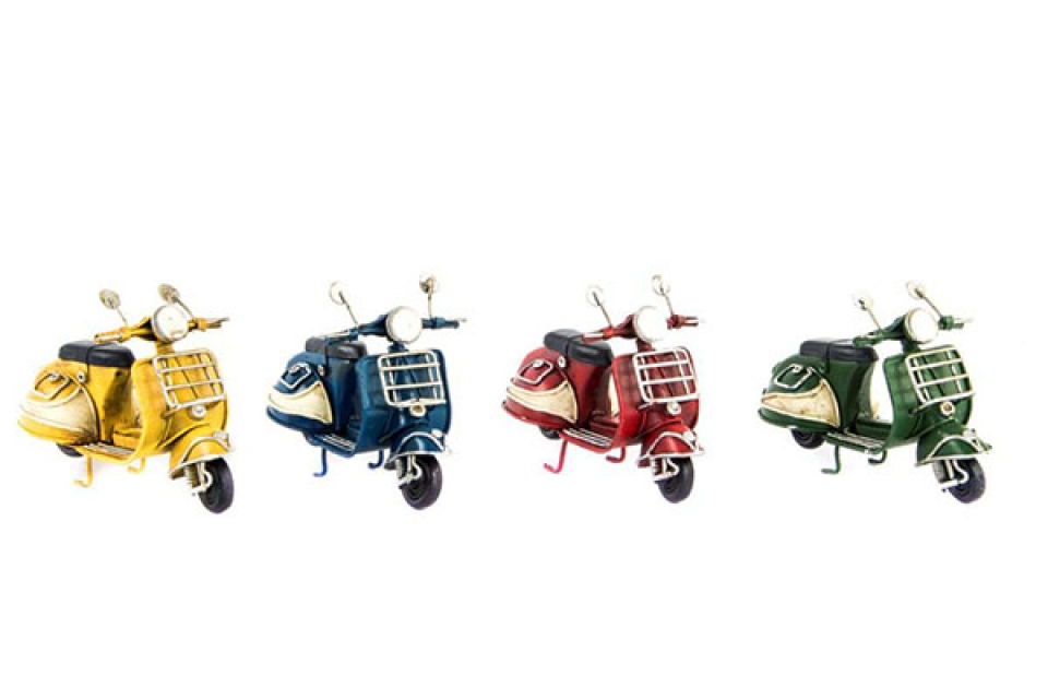 Dekoracija motor 11x5x7,5 4 boje