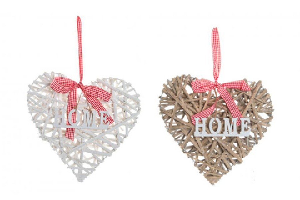 Dekoracija pleteno srce 24x25 2 modela