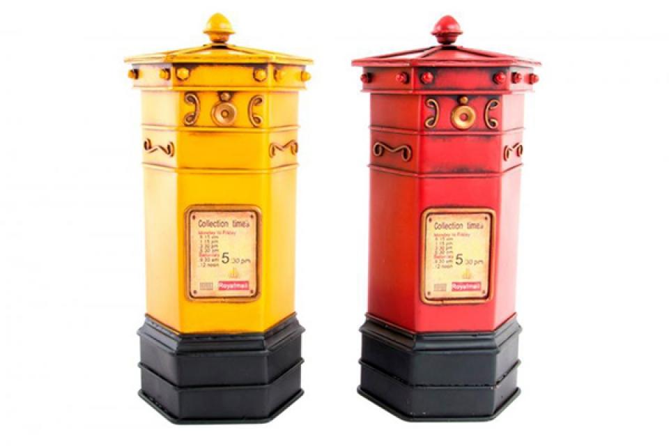 Dekoracija poštansko sanduče 14x14x29 2 boje