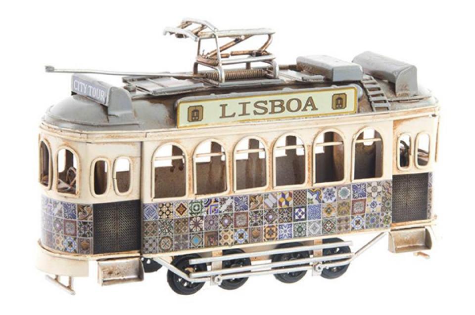 Dekoracija tramvaj u lisabonu 20x7x15