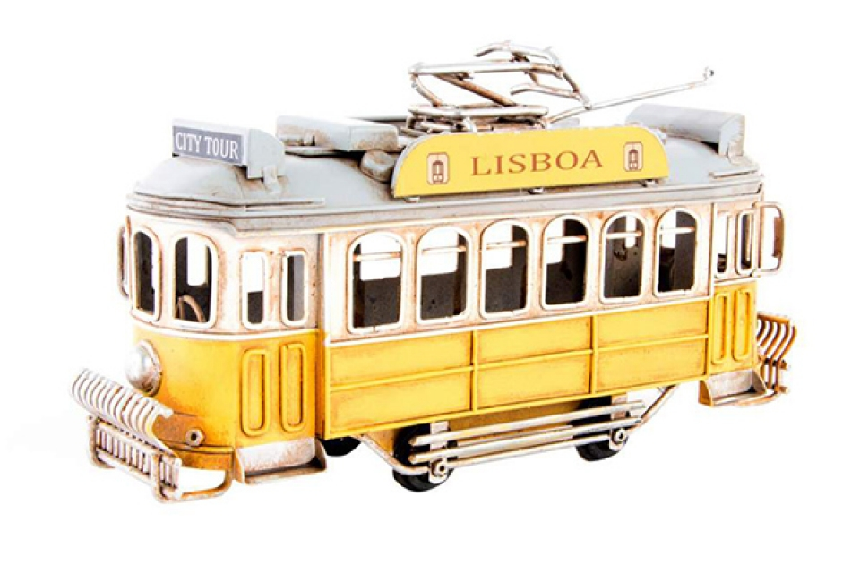 Dekoracija žuti trolejbus 20x7x15