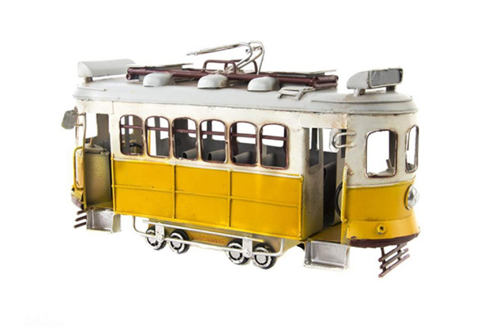 Dekoracija žuti trolejbus 30x11x17