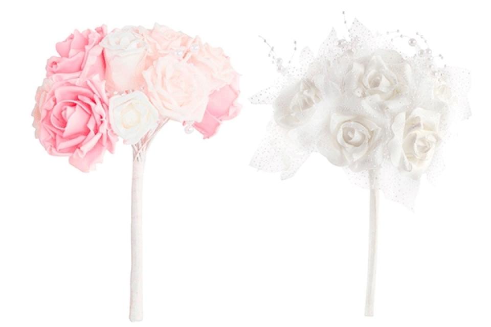 Dekorativne ruže 21x27 2 boje