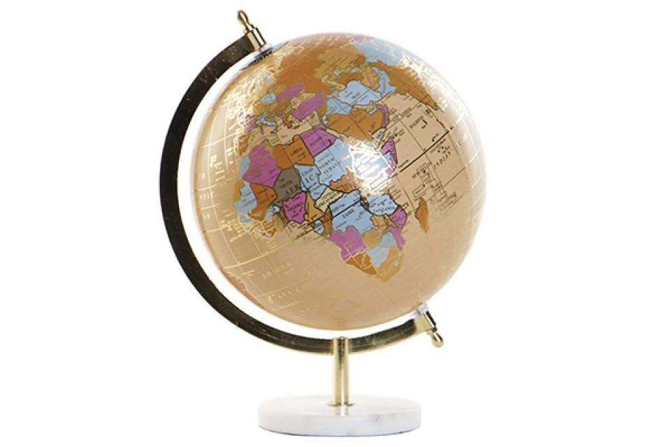 Dekorativni globus beige 22x20x28