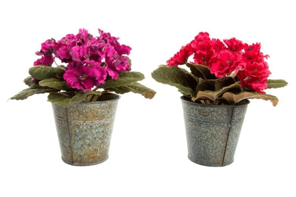 Dekorativno cveće 16x16 metal/pvc 2 modela