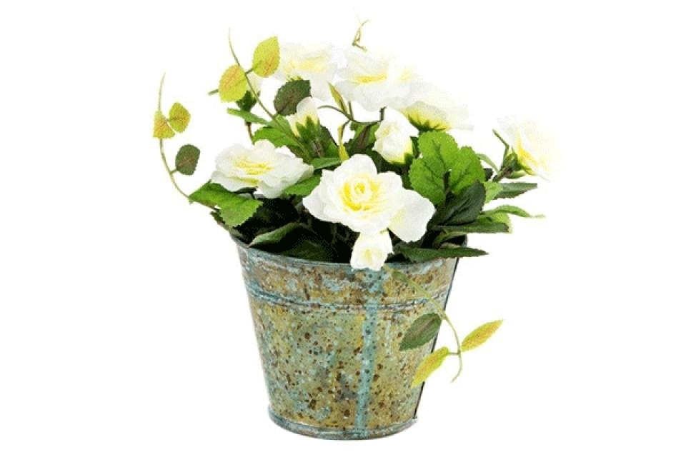 Dekorativno cveće bele ruže  metal/pvc