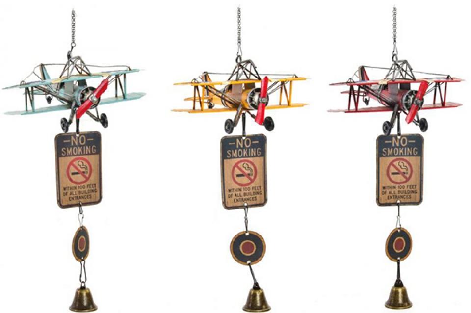 Dekorativno zvono avion 25x24x51 3 modela