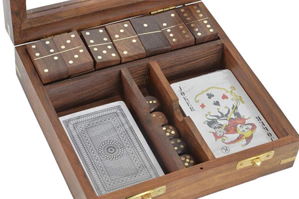 Dru?tvene igre karte, domine i jamb 17x17x7,5
