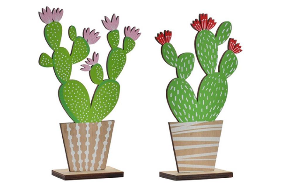 Drvena figura kaktus 14x5x21 2 modela