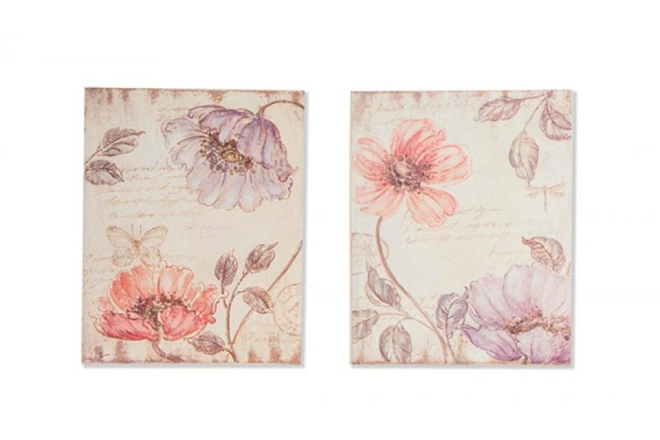 Drvena slika cveće 20x25