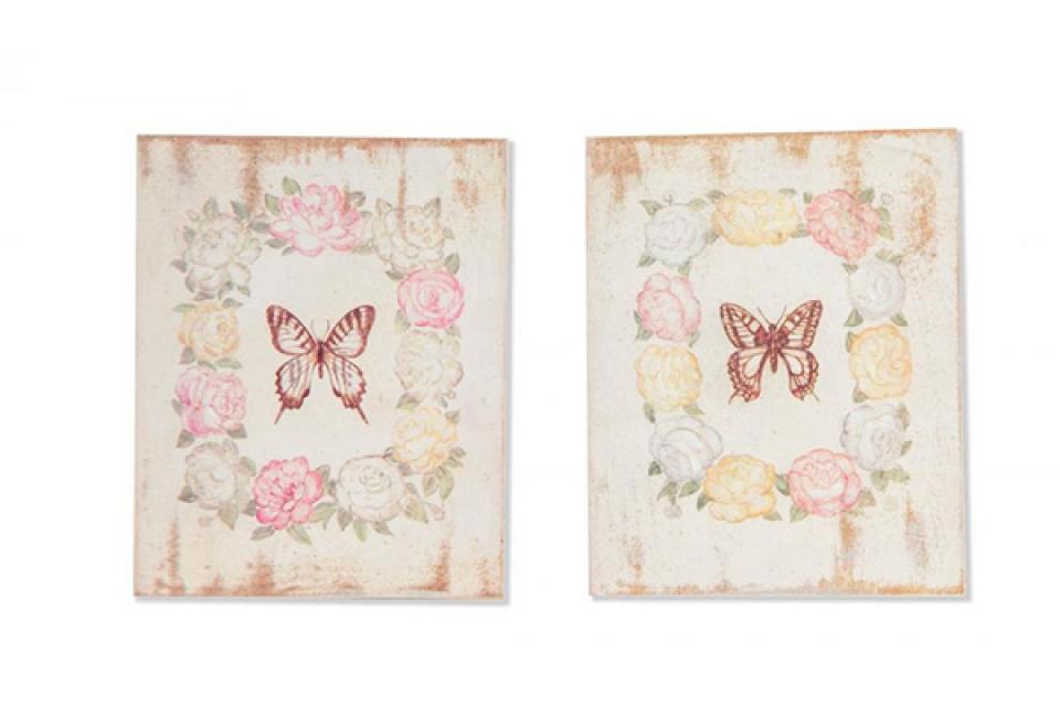 Drvena slika leptir 20x25
