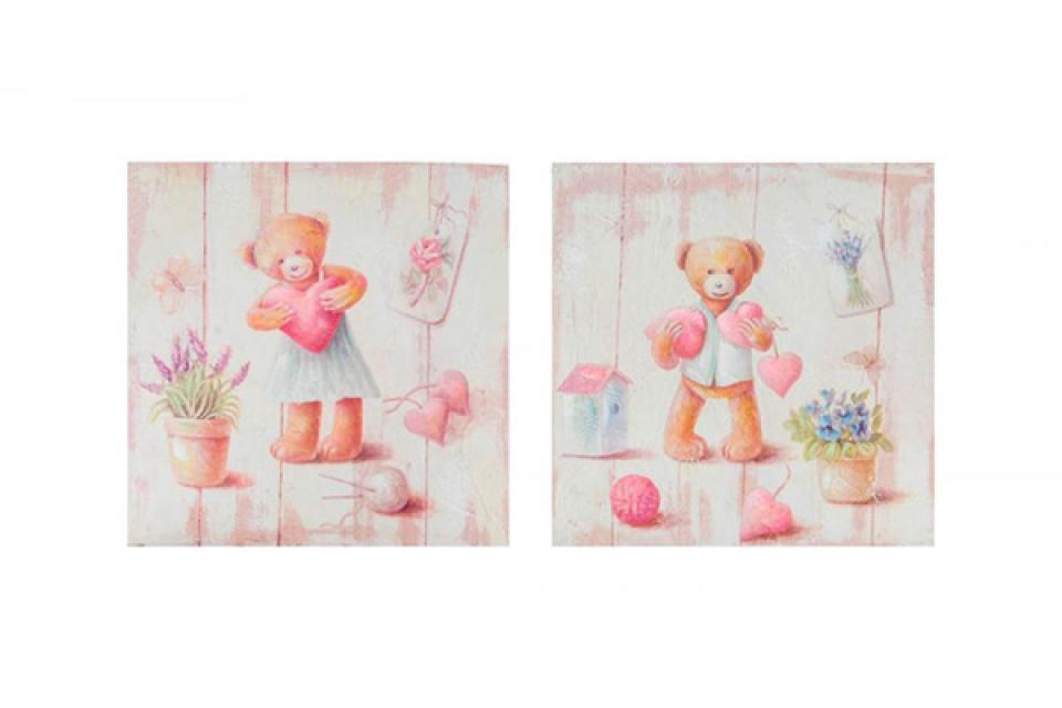 Drvena slika meda i srce 25x25