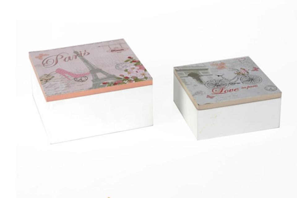 Drvene kutije set/2 sa motivima pariza
