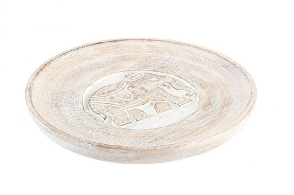 Drveni tanjir slon 20x2