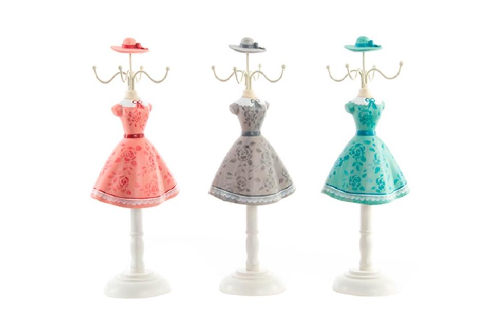 Držač nakita cvetna haljina 12x8,5x32 4 boje