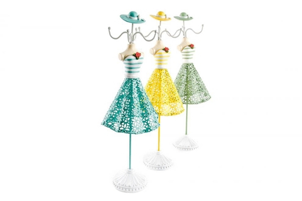 Držač nakita haljina na štrafte 12x9x36  3 boje